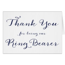 Thank You For Being Our Ring Bearer Wedding Card