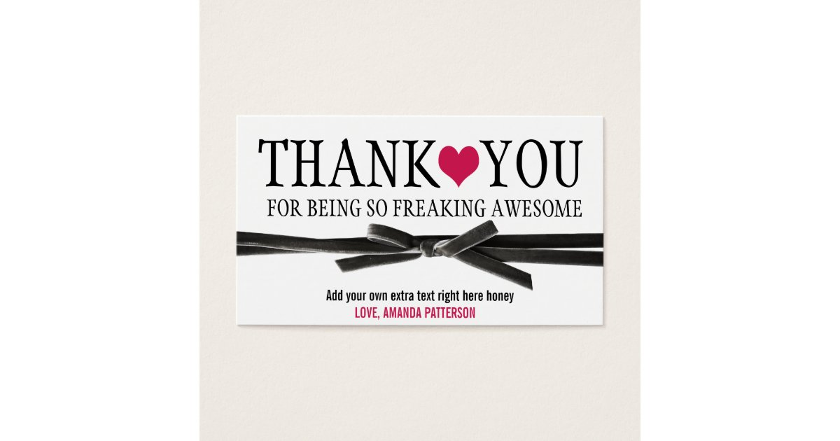 Thank you for being so awesome business card zazzle reheart Choice Image