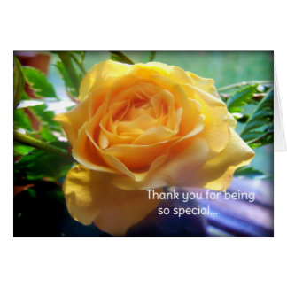 Thank you for being so special... card