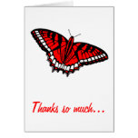 Thank You for Bridal Shower Gift with Butterfly Greeting Card