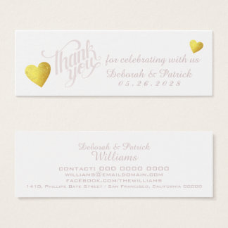 thank you for celebrating with us, our wedding mini business card