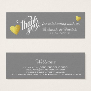 Professional Business thank you for celebrating with us, wedding mini business card