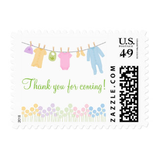 Thank You For Coming! Baby Shower Stamps