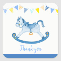 Thank you for coming baby shower stickers Boy Baby