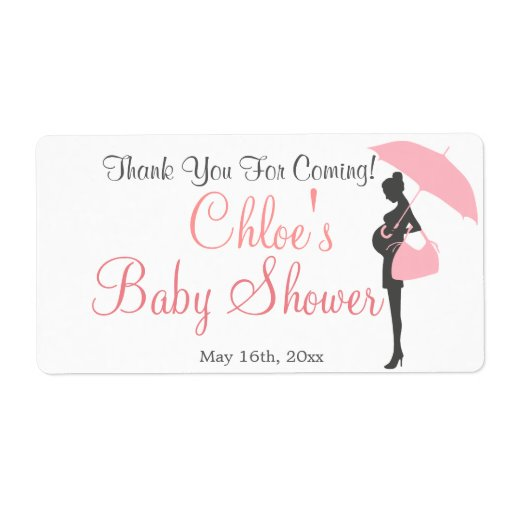 Thank You For Coming! Baby Shower Water Bottle Label | Zazzle