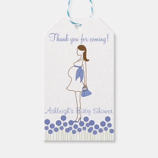 thank you for coming blue silhouette baby shower gift tags  zazzle, Baby shower