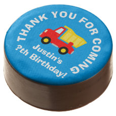 Thank you for coming boys Birthday party cookies