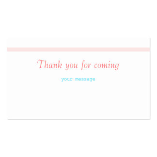 Thank you for coming business card