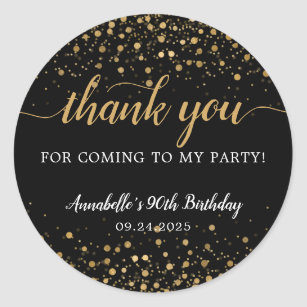 Personalised Circle Pokemon Go Birthday Party Thank You Sticker Labels 98