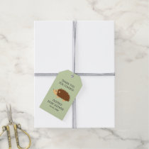 Thank you for coming hedgehog baby shower favor gift tags