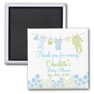 Thank You For Coming! Little Clothes Baby Shower 2 Inch Square Magnet