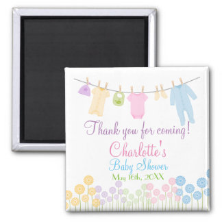 Thank You For Coming! Little Clothes Baby Shower Magnet
