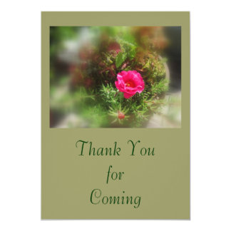 Thank You for Coming, Moss Rose Card