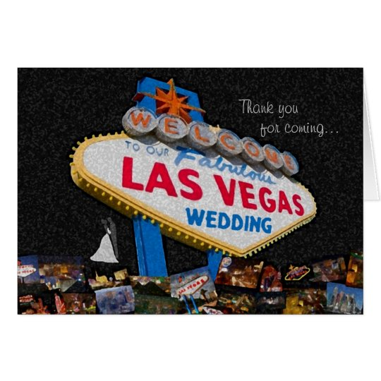 Thank You For Coming, Our Las Vegas Wedding Card