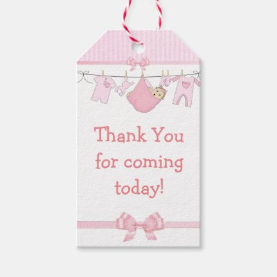 Thank You For Coming Blue Baby Shower Gift Tag Zazzle