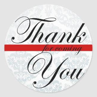 Thank you for coming Red Sticker