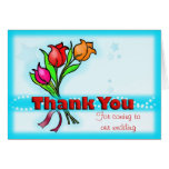 THANK YOU FOR COMING TO OUR WEDDING fun flowers Greeting Card