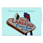 Thank you for coming to our Wedding! In Fabulous L Greeting Card