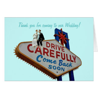 Thank you for coming to our Wedding! In Fabulous L Card