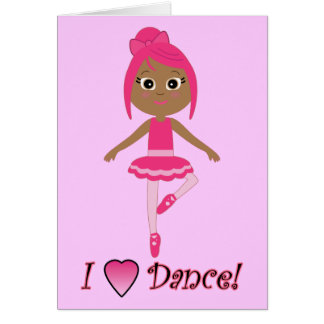 Thank You for Coming to See Me Dance Card