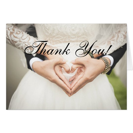 Thank You For Coming To Wedding Card
