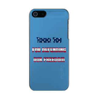 Thank You For Defending Our Freedom Metallic Phone Case For iPhone SE/5/5s