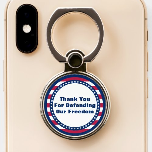 Thank You For Defending Our Freedom Patriotic Phone Case