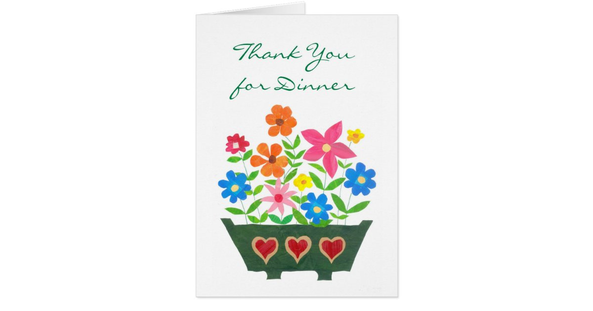 Beautiful Thank You for Dinner Card - Flower Power | Zazzle.com UV58