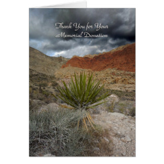 Thank You for Donation, Mountain Storm with Yucca Greeting Card
