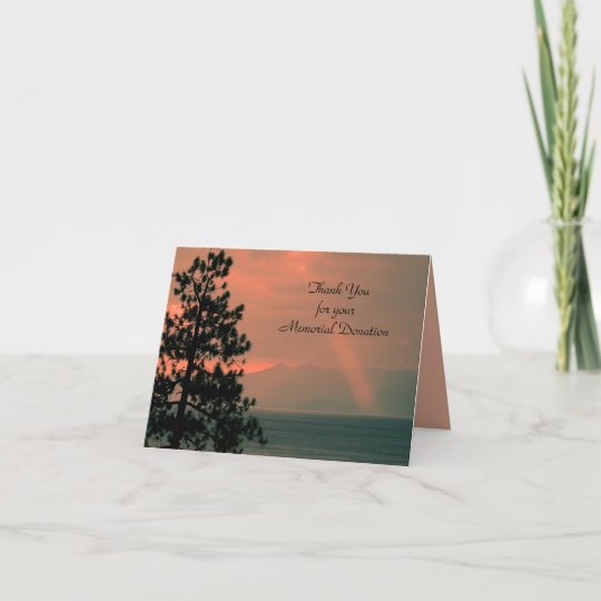thank you for donation note card light beam  zazzle