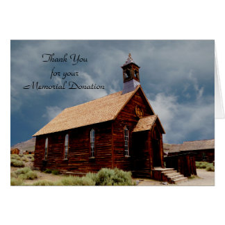 Thank You For Donation Note Card, Old Church Card
