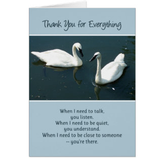 Thank You for Everything... Greeting Cards