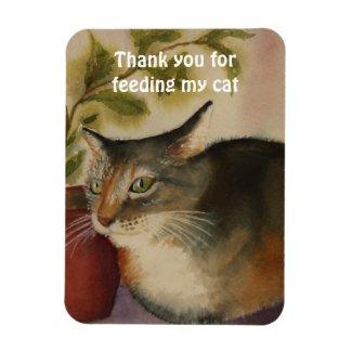 Thank you for feeding my cat premiumfleximagnet