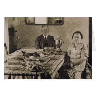 Thank You for Food and Hospitality, Vintage Photo Greeting Card