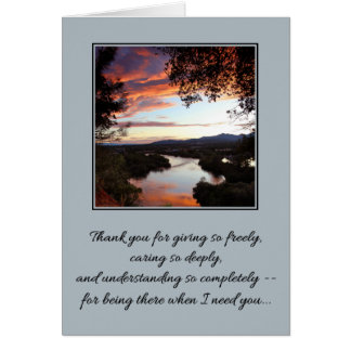 Thank you for giving so freely... greeting card
