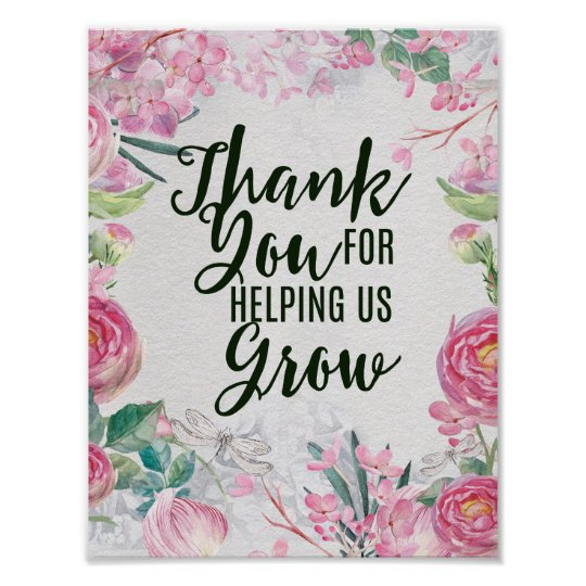 Thanks For Helping Me Grow Quotes: Thank You For Helping Us Grow Teacher Gift Poster