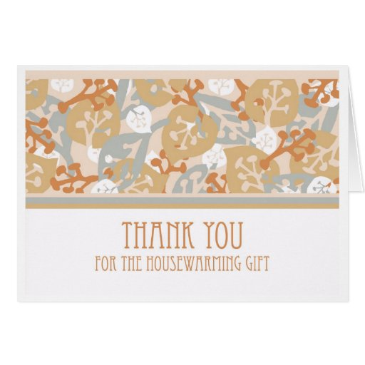 thank you for housewarming gift nature card zazzle. Black Bedroom Furniture Sets. Home Design Ideas