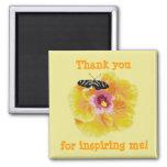 Thank you for inspiring me! Butterfly Flower Magne Fridge Magnet