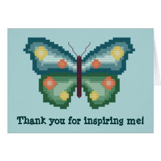 Thank you for inspiring me! Butterfly Notecard