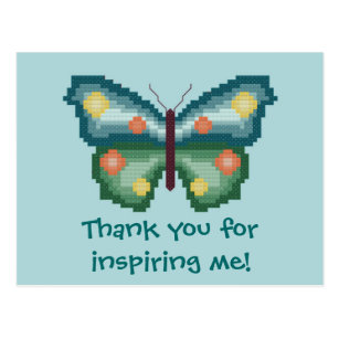 thank you for inspiring me butterfly postcard