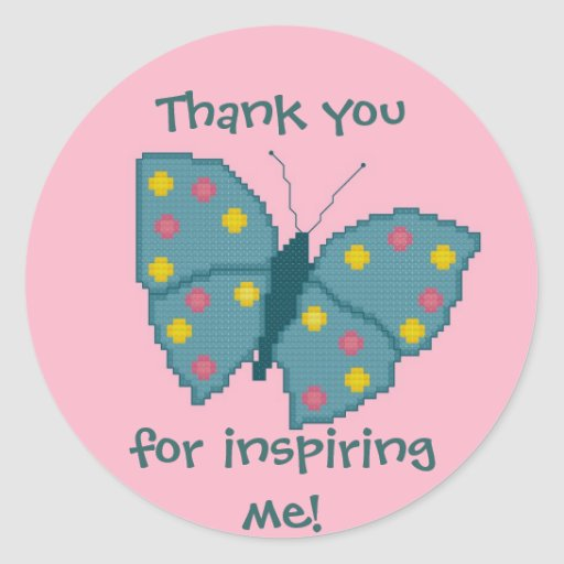 Thank you for inspiring me! Butterfly Sticker