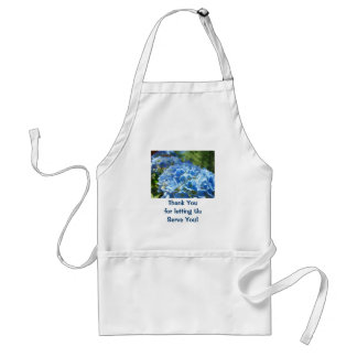 Thank You for letting Us Serve You! aprons Blue