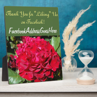 Thank You for Liking Us on Facebook Counter Sign Plaque