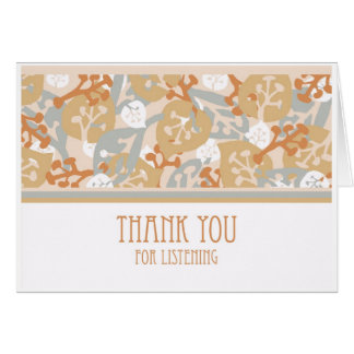Thank You for Listening, Nature Leaves Card