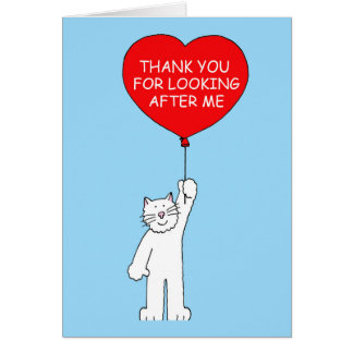 Thank you for looking after the cat. card