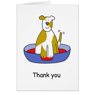 Thank you for looking after the dog. card