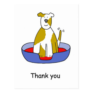 Thank you for looking after the dog. postcard