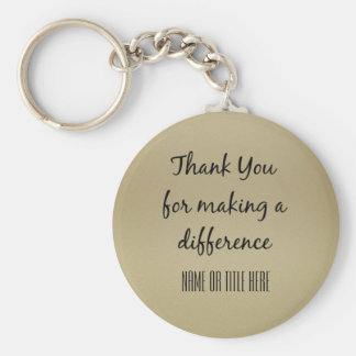 Thank you for Making a Difference Basic Round Button Keychain
