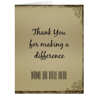 Thank you for Making a Difference Large Greeting Card