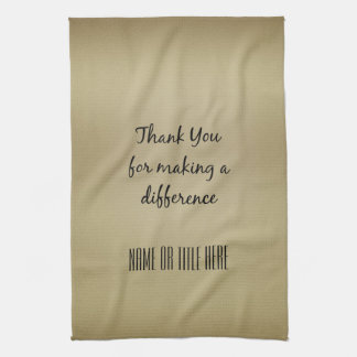 Thank you for Making a Difference Hand Towel